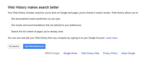 Web History Makes Search Better