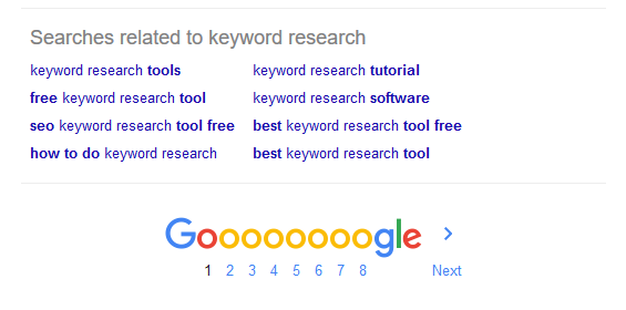 Google - related searches