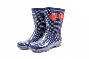 blue wellington boot