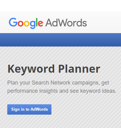 How to Use Google's AdWords Keyword Planner in 5 Simple Steps