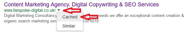 googles-cache-date